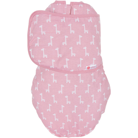 EMBE CLASSIC 2-Way Swaddle (Pink Giraffes)