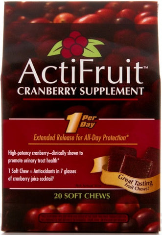 ActiFruit (Cranberry Supplement) - 20 Soft Chews