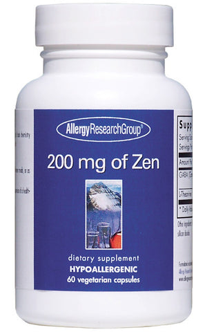 Allergy Research Group - 200 mg of Zen 120 Vegetarian Capsules