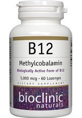 B12 Methylcobalamin 5000 mcg - 60 Lozenges