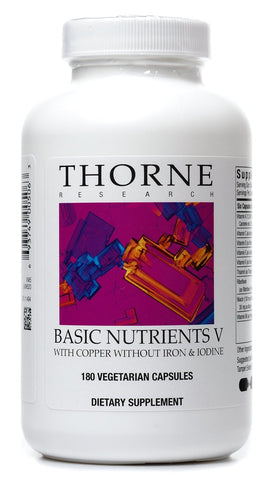 Basic Nutrients V with Copper and w/o Iron & Iodine (Advanced Formula) - 180 Vegetarian Capsules