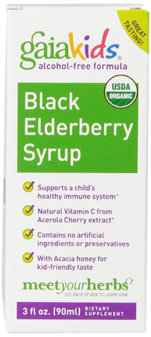 Black Elderberry Syrup for Kids (Alcohol Free) - 3 fl. oz (90 ml)