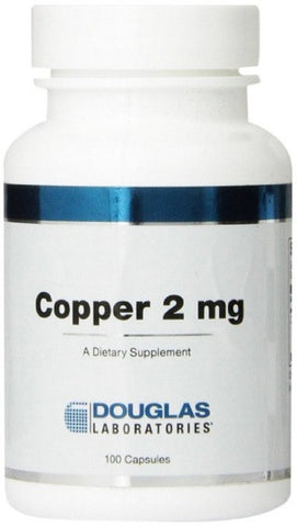 Copper 2 mg - 100 Capsules