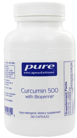 Curcumin 500 with Bioperine - 120 Vegetable Capsules