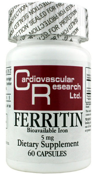 Ferritin Bioavailable Iron 5 mg - 60 Capsules