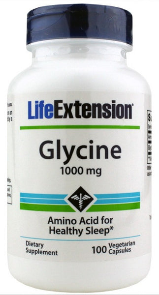 Glycine 1000 mg - 100 Vegetarian Capsules