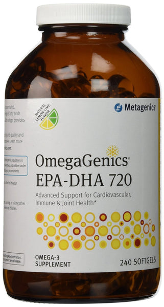 OmegaGenics® EPA-DHA 720 Natural Lemon-Lime Flavor - 240 Softgels