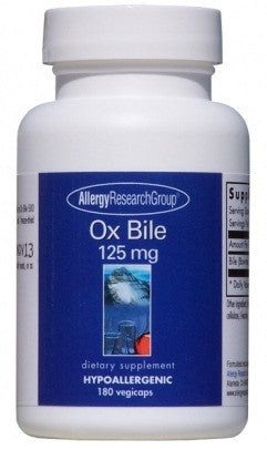 Ox Bile 125 mg - 180 Vegicaps