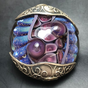 Artisan Necklace Pendant Purple