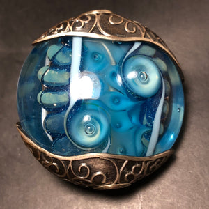 Artisan Necklace Pendant Blue