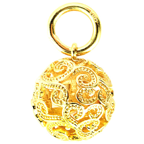 Baroque Dangle Gold Plated Brass