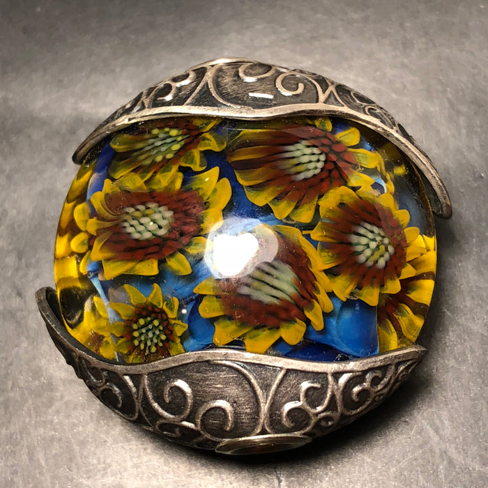 Artisan Necklace Pendant Sunflower