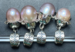 7-2 Palace of Amber - Pink Pearl Dangle 2