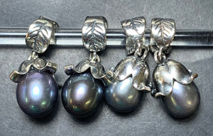 7-2 Palace of Amber - Black Pearl Dangle 4