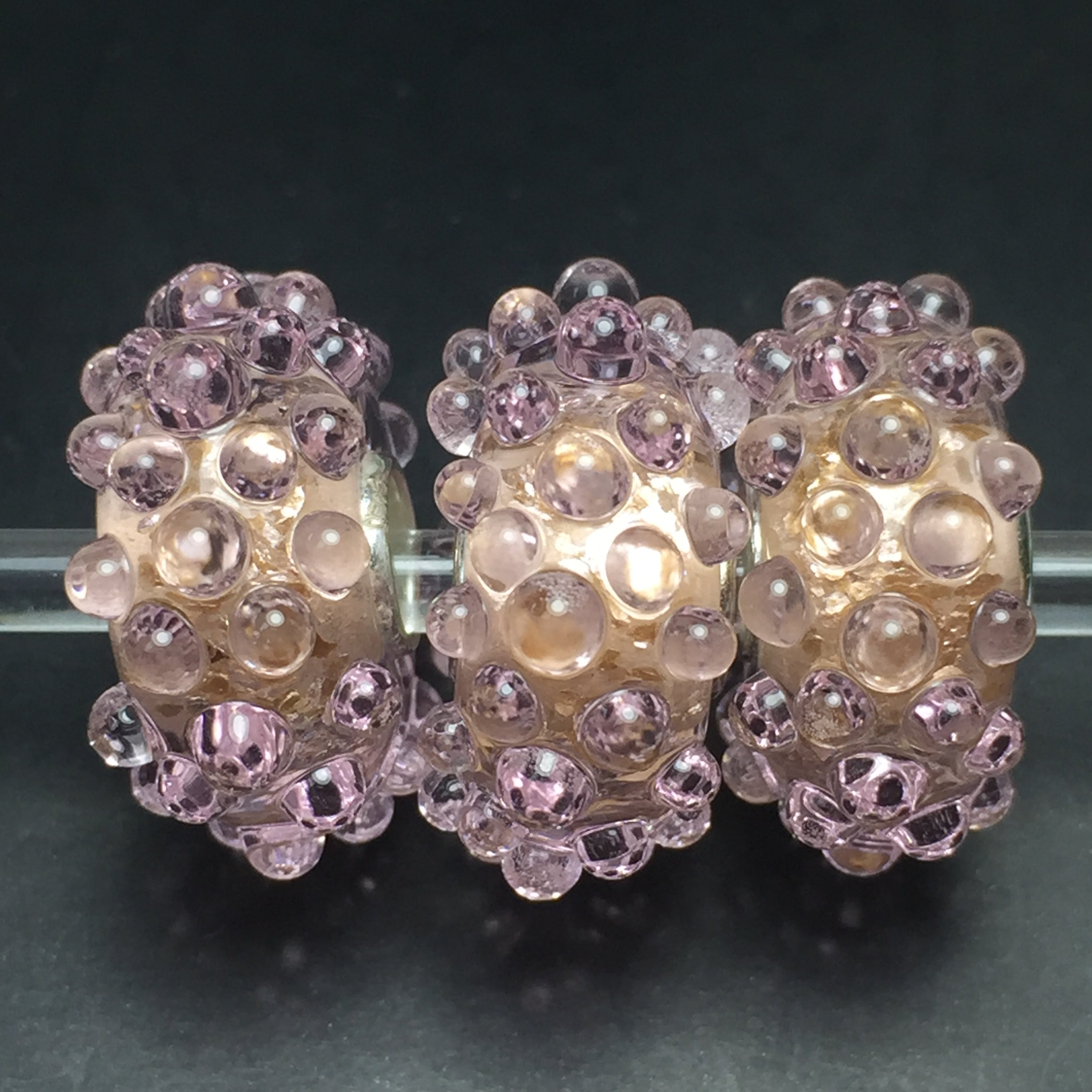 Baby Pink Gold Flakes Dewdrops 1