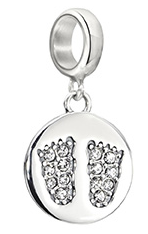 Footprints - Pav' Baby Feet Charm