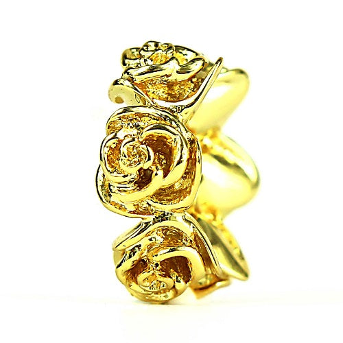 Roses 18k Gold Plated Elfbeads