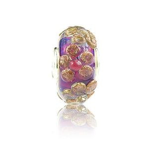 VIOLET GOLDDUST PETITE BLOSSOM at Blooming Boutique Elfbeads