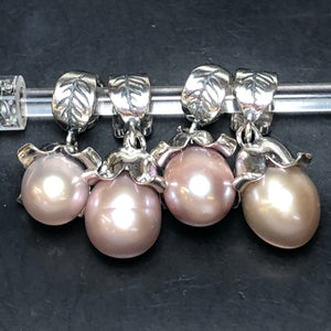 Palace of Amber - Pink Pearl Dangle 1