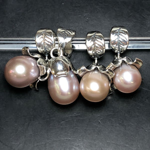 Palace of Amber - Pink Pearl Dangle 2