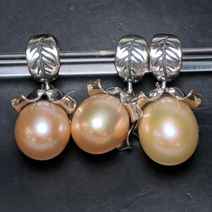 Palace of Amber - Peach Pearl Dangle 1
