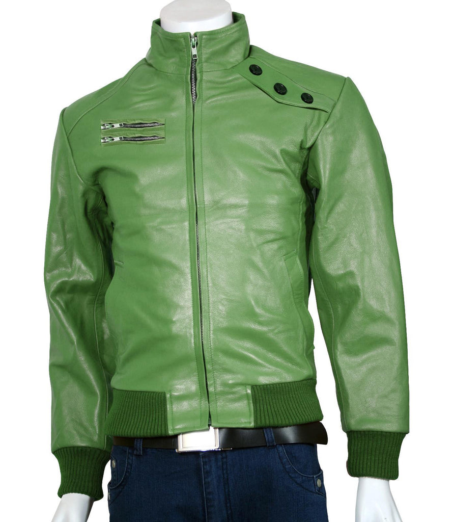 Men Green Flight Bomber Jacket