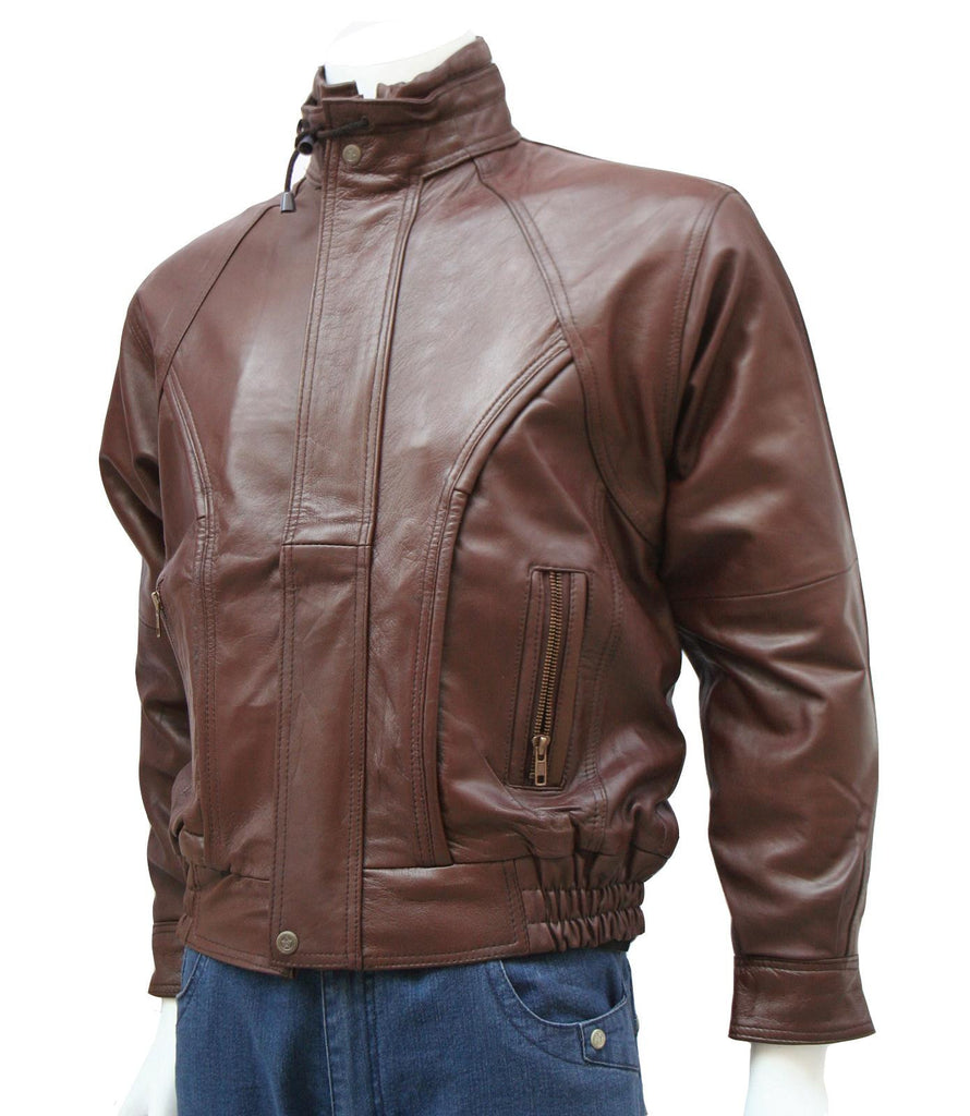 Men Brown Motorcycle Jacket