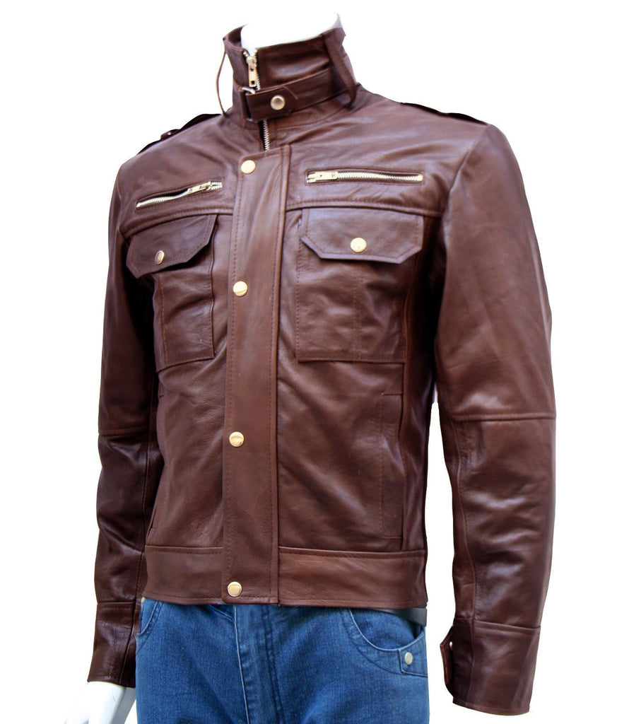 Men's Leather Brown Jacket