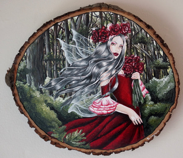 lady of the forest fairy gothic lowbrow painting forest