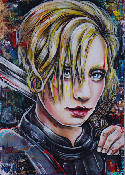Brienne Of Tarth Game Of Thrones Art Print Illustration