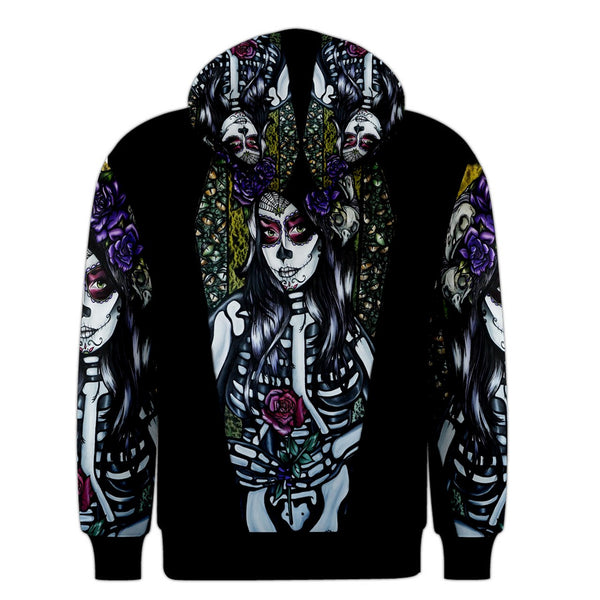 Mens- Flower Of The Dead- Hoodie- Pullover