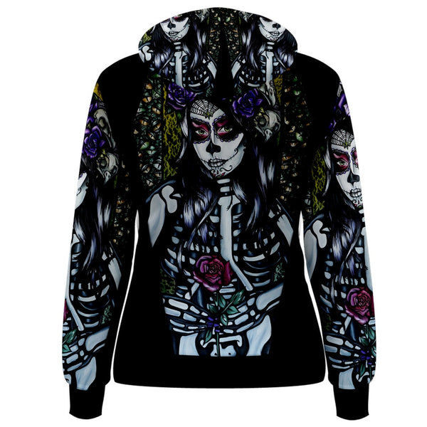 Flower Of The Dead- Womens Hoodie - Pullover