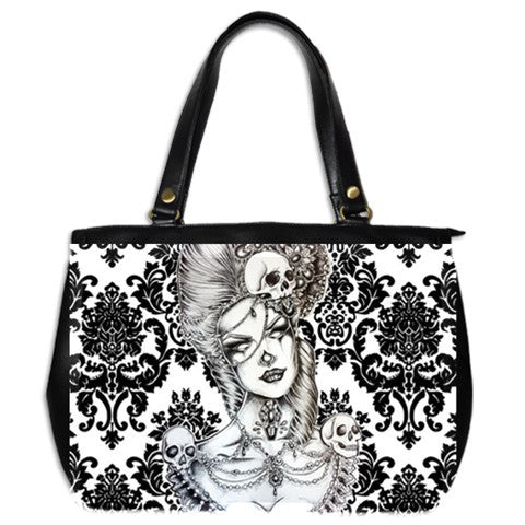 Marie Oversize Leather Womens Handbag Alternative Apparel Gothic Purse