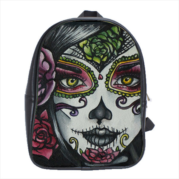 Carolina- Day of the Dead Woman Tattoo Art Backpack