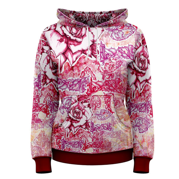 Warm Waves- Beautiful Floral Hoodie Nature Elegant Fall Fashion Bohemain Shabby Chic