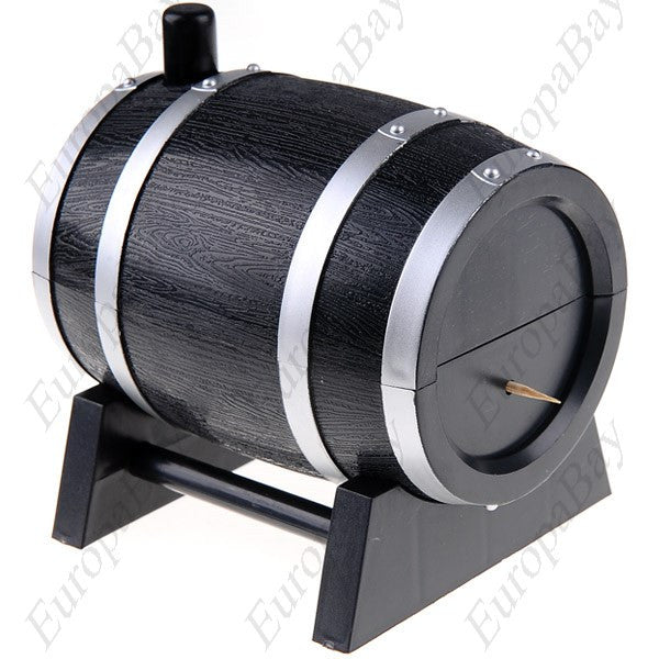 Wine Barrel Style Plastic Automatic Toothpick Box + Eligible for Free Worldwide Shipping - EuropaBay - 1