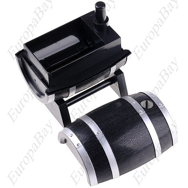 Wine Barrel Style Plastic Automatic Toothpick Box, Toothpick Holder, EuropaBay Limited
