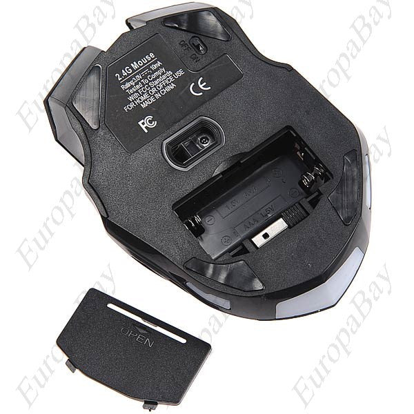 2.4GHz Wireless Gaming Mouse 2000DPI Optical Mouse, Mouse, EuropaBay Limited