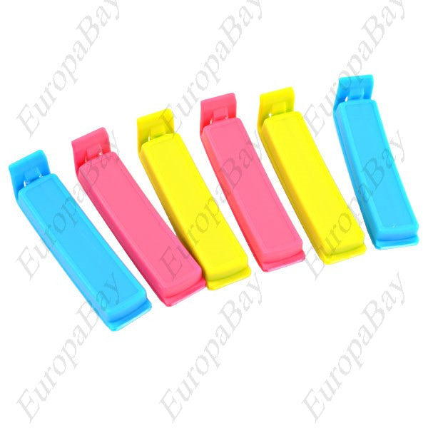 6pcs Plastic Vacuum Sealing Food Clips, Sealing Clips, EuropaBay Limited