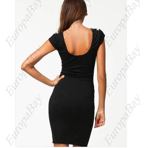 Evening or Party, Crewneck Sexy Elegant Short Sleeve Dresses, Dress, EuropaBay Limited