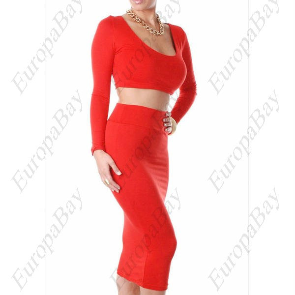 Evening Party Elastic Chinlon Purity Scoop Sexy Bodycon Knee-Length Long Sleeve Clubwear, Dress, EuropaBay Limited