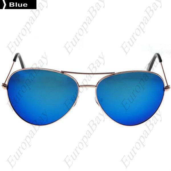 Frog Mirror Casual Alloy Metal Frame Men's & Women's Sunglasses ( in Paper Cartons ) + Eligible for Free Worldwide Shipping - EuropaBay - 1