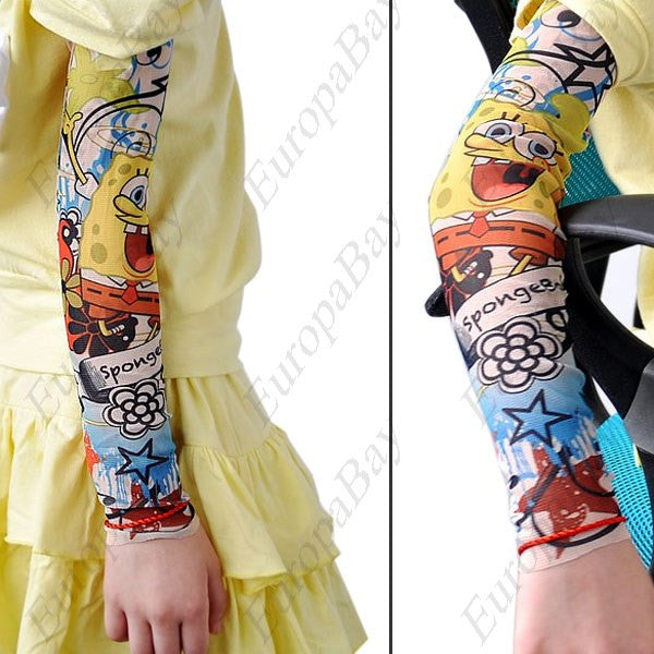 Cartoon Style Tattoo Sleeve, Breathable Body Art Tattoo Sleeve for Kids, Tattoo Sleeve, EuropaBay Limited