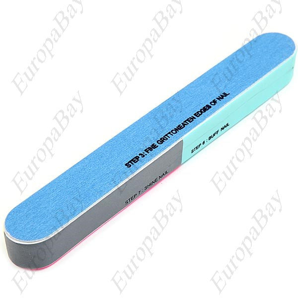 7-Section Nail Polish Buffer File, Manicure Tool, Nail Buffer File, EuropaBay Limited