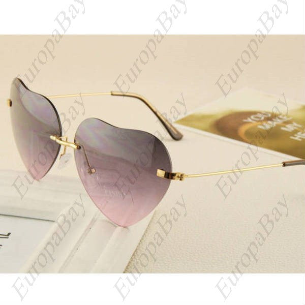 Casual Metal Frame Heart-shaped Women's Glasses  + Eligible for Free Worldwide Shipping - EuropaBay - 1