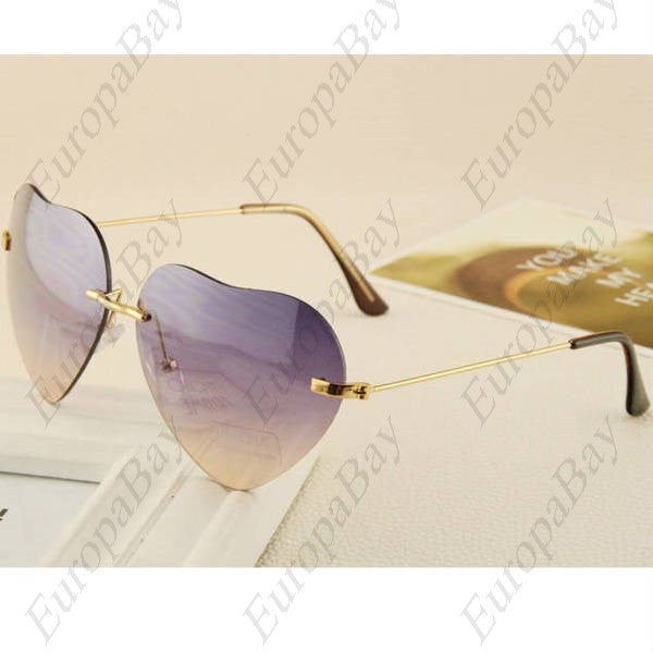 Casual Metal Frame Heart-shaped Women's Glasses, Sunglasses, EuropaBay Limited