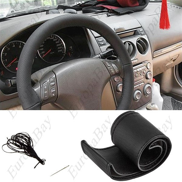 DIY Leather Car Steering Wheel Cover with Needle and Thread, Steering Wheel Cover, EuropaBay Limited