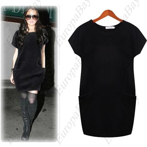 Spring or autumn Casual Purity Crewneck Mini Short Sleeve Dress for Woman, Girl, Lady + Free Worldwide Shipping - EuropaBay - 1