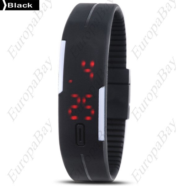 Digital Sports Wristwatch, Silicon, Bracelet, Electronic [Easy To Read] [Unisex], Watches, EuropaBay Limited