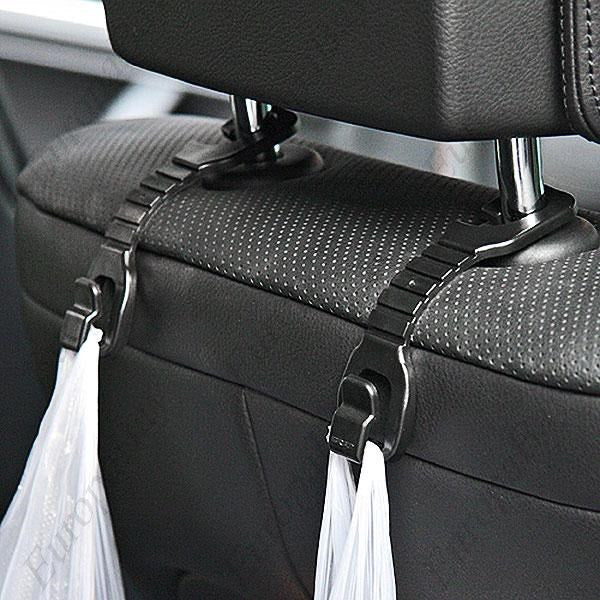 2 PCS Plastic Truck Shopping Bag Holder, Auto Car Seat Hook Hanger, Car Seat Hooks, EuropaBay Limited